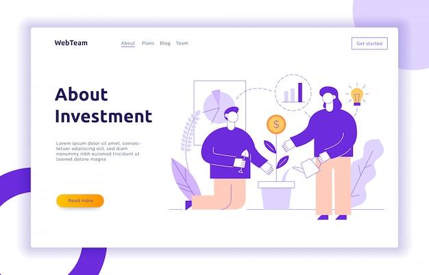 Vektor-business und finanz-design-konzept