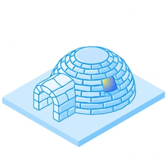 Vektor-cartoon-iglu