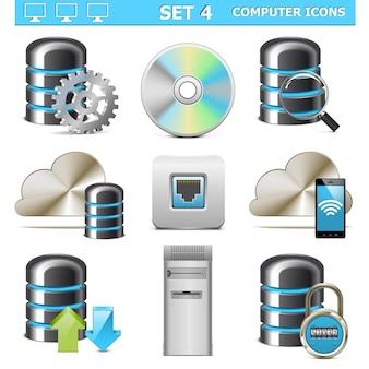 Vektor-computer-icons set 4