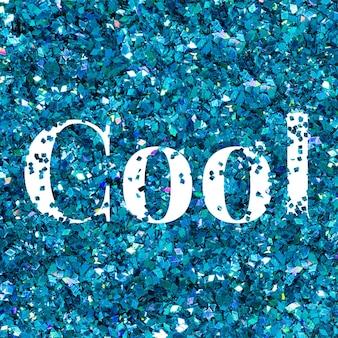 Vektor coole glitzerworttexttypografie