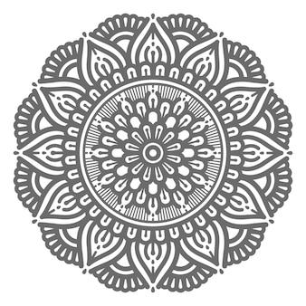 Vektor dekorative mandala illustration für abstraktes und dekoratives konzept im kreisförmigen stil