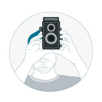 Vektor der analogen filmkamera