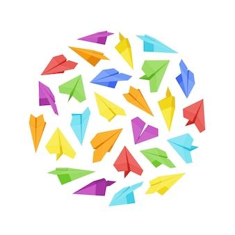 Vektor, der das design gemacht von den papierflächen verziert