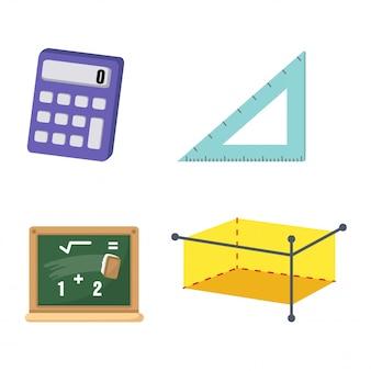 Vektor der mathematik gesetzt