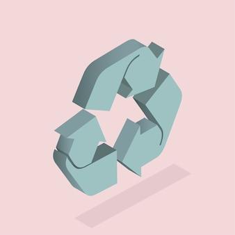 Vektor der Recycling-Symbol
