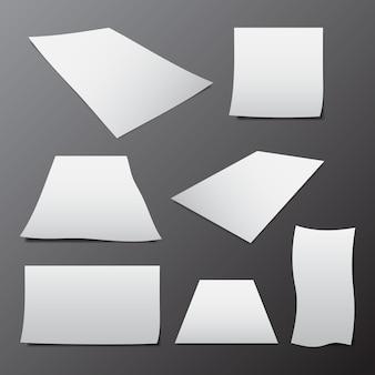 Vektor der schablone des leeren papiers