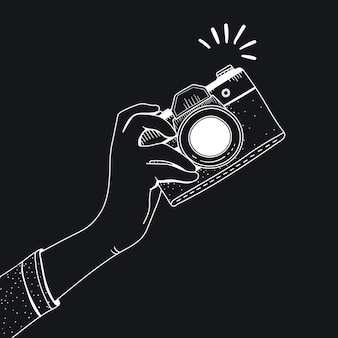 Vektor der weinlesekamera