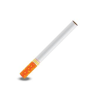 Vektor der zigarette eins auf weißem hintergrund