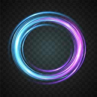 Vektor des abstrakten lichteffekts.