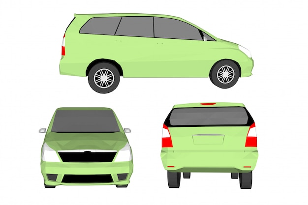 Vektor des autos 3d