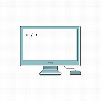 Vektor des digitalen geräts des computers