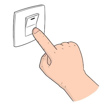 Vektor des elektrischen schalters