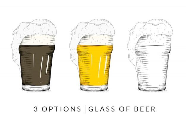 Vektor des glases bieres