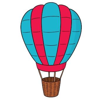 Vektor des heißluftballons