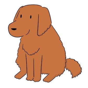 Vektor des hundes, golden retriever