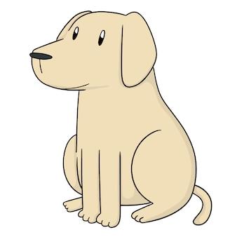 Vektor des hundes, labrador retriever