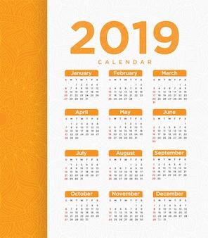 Vektor des kalenderschablone designs des neuen jahres 2018