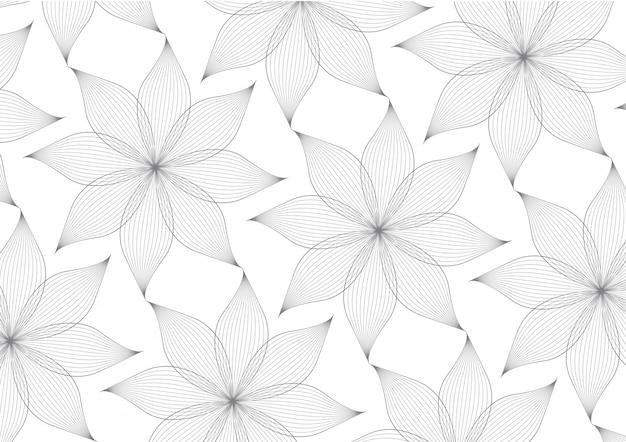Vektor des linearen blumenblattblumen-musterhintergrundes