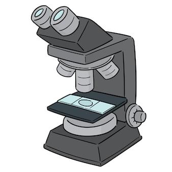 Vektor des mikroskops