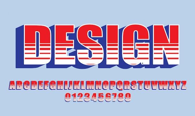 Vektor des mutigen modernen gusses und des alphabetes, des schriftbildes, der buchstaben und der zahlen, der typografie. - vektor
