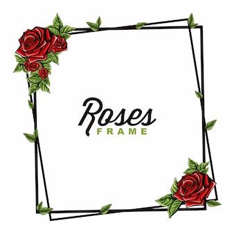 Vektor des rosenrahmens