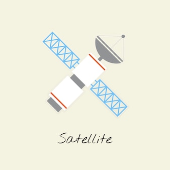 Vektor des satelliten