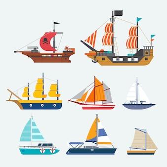 Vektor des segelboots