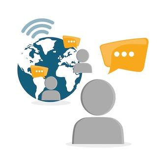 Vektor-design des sozialen netzes