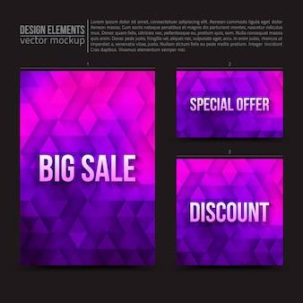 Vektor-design-elemente flyer card banner
