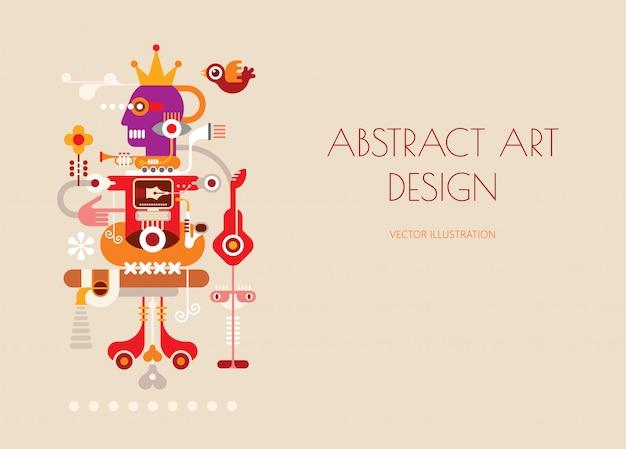 Vektor-design für abstrakte kunst