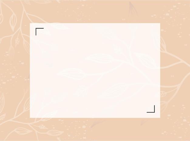Vektor-design-vorlagen im einfachen modernen stil mit kopienraum für text, blumen und blätter - hintergründe und rahmen für hochzeitseinladungen, hintergrundbilder für social-media-geschichten