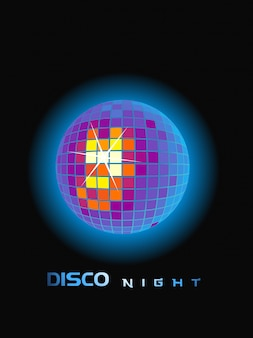 Vektor disco party ball