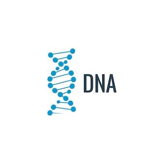 Vektor-dna-logo-symbol. genleben oder moleküldesign. biologie-konzeptillustration.