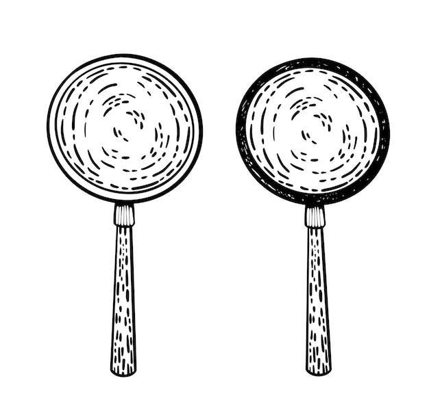 Vektor-doodle-glas-set vergrößern