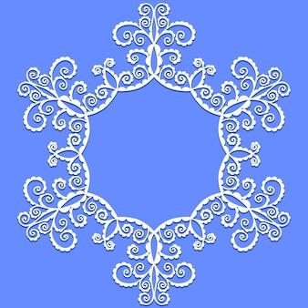 Vektor-doodle-muster aus spiralen, wirbeln und blumen