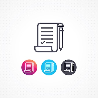 Vektor-editor papier dokument symbol