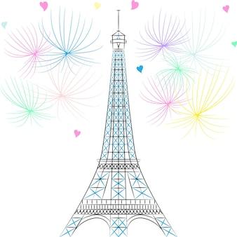 Vektor-eiffelturm in paris