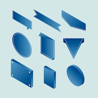 Vektor einer banner-label-sammlung