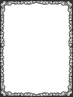 Vektor einfache schwarze dekorative zierrahmengrenze
