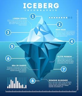 Vektor eisberg infografik