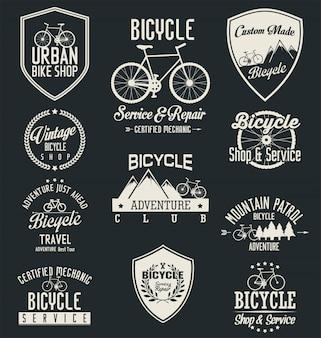 Vektor fahrrad abzeichen und etiketten