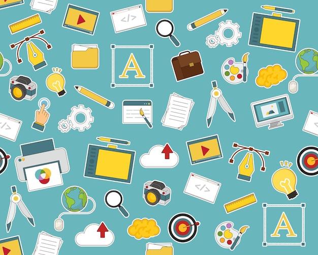 Vektor flache nahtlose texturmuster design, ui und webentwicklung web