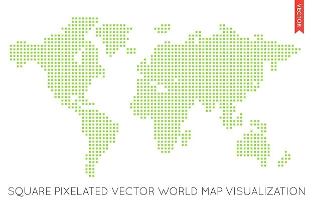Vektor-flache weltkarte infografik. weltkarte.