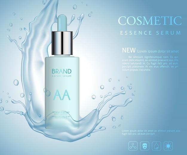 Vektor flasche kosmetik, mit spritzwasser