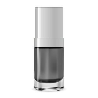 Vektor-flasche. kosmetischer serumbehälter. wesen