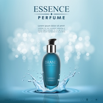 Vektor flasche serum kosmetik