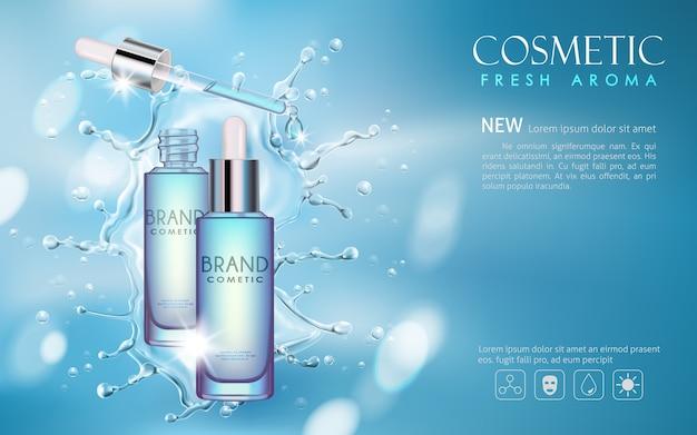 Vektor flasche serum kosmetische mock-up