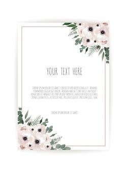 Vektor floral design-karte.