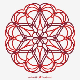 Vektor floralen ornament linie kunst