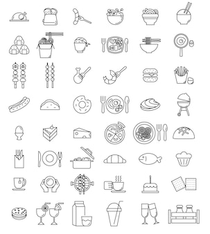 Vektor-food-icon-set